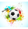 Grunge background with ball vector image