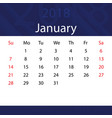 january 2018 calendar popular blue premium for vector image