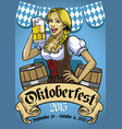 oktoberfest poster event vector image