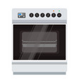 oven stove icon food cooking kitchen pizza vector image