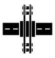 railroad crossing icon simple style vector image