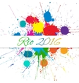 Rio 2016 Games over Color vector image