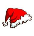 Santas Hat Isolated On White vector image