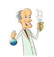 scientist with a test tube vector image
