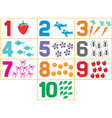 Learning Numbers vector image vector image