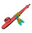 indian peace pipe icon icon cartoon vector image vector image