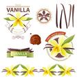 vanilla emblems vector image