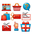 collection of shopping and sale icons for your vector image vector image
