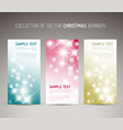 set of christmas new year vertical banners vector image vector image