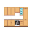 Kitchen design interior modern room furniture vector image