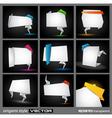 origami borders vector image vector image