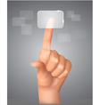 touch screen concept vector image