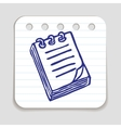 Doodle Notepad icon vector image