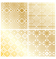 ROYAL GOLD GEOMETRIC PATTERN BACKGROUND vector image