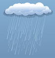 Rain dark clouds blue vector image