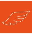 wings icon design vector image