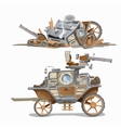 Armed carriage and wrecked it two image vector image