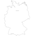 Black White Germany Outline Map vector image