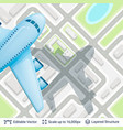 abstract city plan and airplane vector image