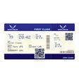 Fake plane ticket vector image
