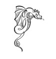 fancy fabulous flying animal dragon vector image