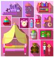 Girls bedroom furniture sets vector image