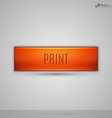 Orange web button with shadow on the gay vector image