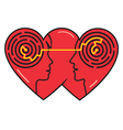 Psychology of love vector image