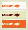 Set autumn banners vector image