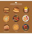 set of american food vector image