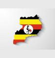 Uganda map with shadow effect vector image