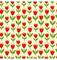 seamless with tulips vector image
