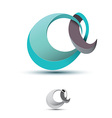 Teal Letter A vector image vector image
