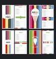 Menu designs vector image