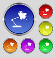 Table lamp icon sign Round symbol on bright vector image