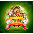 casino with roulette wheel and ribbon vector image