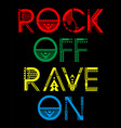 rock of rave on vector image