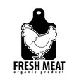 fresh meat icon for butcher shop of chicken vector image