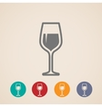 wineglass icons vector image