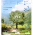 Eco backgroung vector image vector image