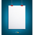 background with a piece of paper hanging vector image