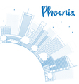 Outline Phoenix Skyline vector image