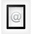 email concept tablet pc vector image vector image