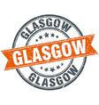 Glasgow red round grunge vintage ribbon stamp vector image