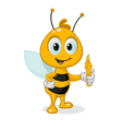 bee with a candle vector image