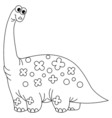 Black and White Dinosaur vector image