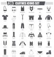 clothes black icon set Dark grey classic vector image