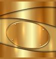 metallic gold decorative background vector image