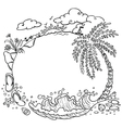paradise summer vector image