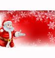 red santa christmas snowflake background vector image